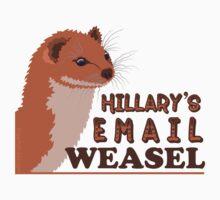 Hillary's Email Weasel FBI Director Parody Kids Tee