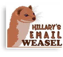Hillary's Email Weasel FBI Director Parody Canvas Print
