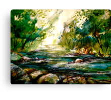 A Memory of Water Canvas Print