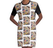 Garage Art Graphic T-Shirt Dress