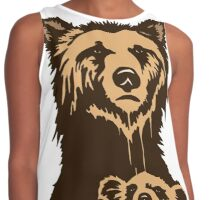 Grizzly Beer Mascot Contrast Tank