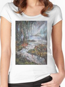 Along the River II Women's Fitted Scoop T-Shirt