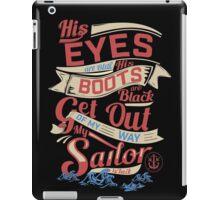 MY SAILOR IS BACK iPad Case/Skin