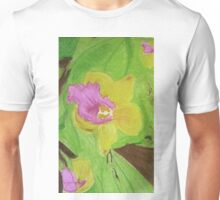 Pink and Yellow Orchid Unisex T-Shirt