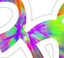 Om Rainbow Tie Dye Sticker