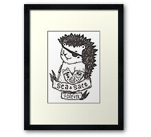 Hedgehog sailor Framed Print