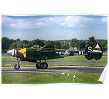 Lockheed P-38J 42-67543/KI-S NX3145X Poster