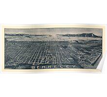 Map Of Berkeley 1909 Poster