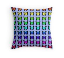 Colorful Butterflies on Lilac Throw Pillow