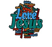 jesus love Photographic Print