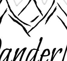 Wanderlust Mountain Range Sticker