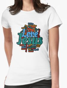 jesus love Womens Fitted T-Shirt