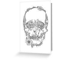 Floral Skull Greeting Card