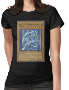 Blue-eyes white dragon Womens Fitted T-Shirt