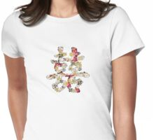 Floral Double Happiness Womens Fitted T-Shirt