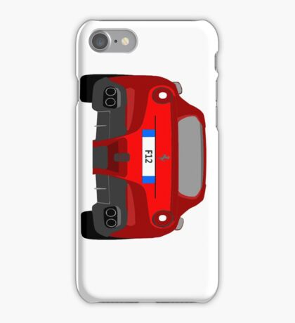 Side Ways Ferrari F12 iPhone Case/Skin