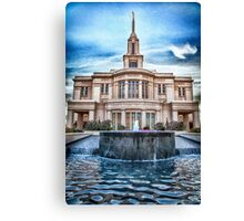 Payson Temple Lords House Canvas Print