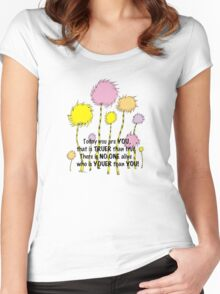 Dr Seuss Today you are You Women's Fitted Scoop T-Shirt