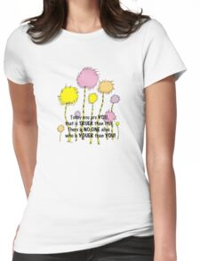 Dr Seuss Today you are You Womens Fitted T-Shirt