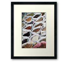 spices at the market Framed Print
