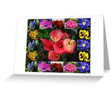 Memories of Sunnier Days Floral Collage Greeting Card