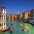 Light Traffic on the Grand Canal by Tom Gomez