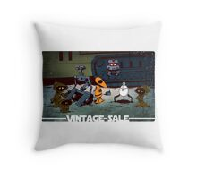 Vintage robots for sale Throw Pillow