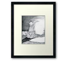 Wed at Sunset Framed Print