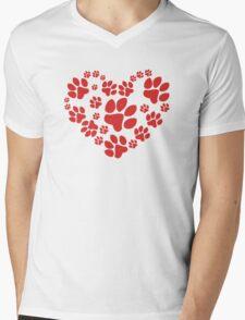 Love Paws Mens V-Neck T-Shirt