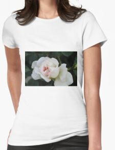white roses Womens Fitted T-Shirt