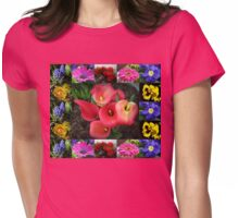 Memories of Sunnier Days Floral Collage Womens Fitted T-Shirt