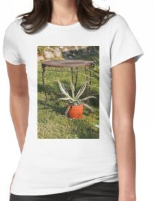 succulent plant in the garden Womens Fitted T-Shirt