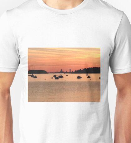 SUNSET ON THE BAY Unisex T-Shirt