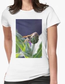 wasp on flower Womens Fitted T-Shirt