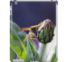 wasp on flower iPad Case/Skin