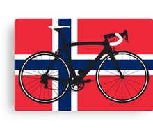 Bike Flag Norway (Big - Highlight) Canvas Print