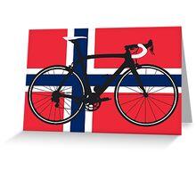 Bike Flag Norway (Big - Highlight) Greeting Card