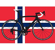 Bike Flag Norway (Big - Highlight) Photographic Print