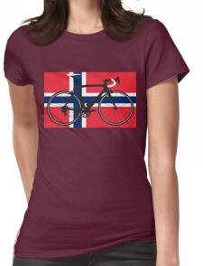 Bike Flag Norway (Big - Highlight) Womens Fitted T-Shirt