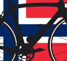 Bike Flag Norway (Big - Highlight) Sticker