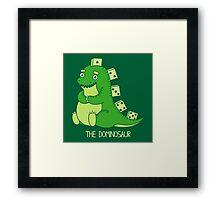 The Dominosaur Framed Print