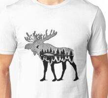 Moose in the WILD Illustration Unisex T-Shirt