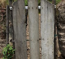 Wooden Gate in a Fence by rhamm