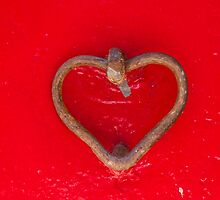 old door with heart by spetenfia