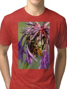 wasp on flower Tri-blend T-Shirt
