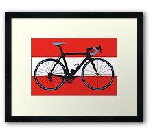Bike Flag Austria (Big - Highlight) Framed Print