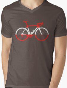 Bike Flag Austria (Big) Mens V-Neck T-Shirt