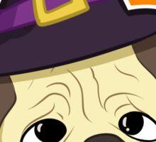 Halloween Witch Pug Sticker