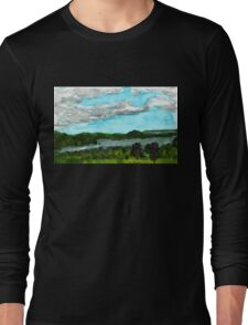 Henderson Harbor, New York, watercolor by Dan Vera Long Sleeve T-Shirt