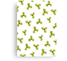 Christmas Holly and Berry Canvas Print